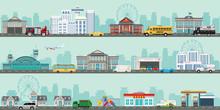 Urban Big Cityscape With Vario...