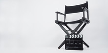 Black Clapper Board Or Movie S...
