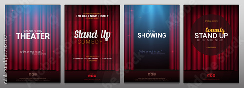 Carta da parati  Set of Stand up and Theater banners