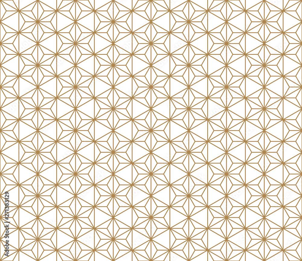 Fototapety, obrazy: Seamless geometric pattern based on japanese ornament kumiko .