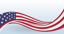 USA Waving National Flag. Mode...