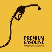 Gasoline Fuel Pump Nozzle Poster With Drop