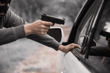 Man With A Gun Threatened Driver
