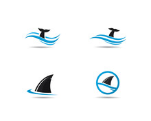 Shark Fin Logo Template Vector...