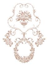 Vintage Floral Lace Pattern For Your Design