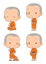 Cartoon Character Of Buddhist ...