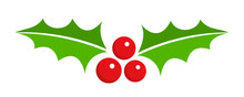 Holly Berry Christmas Icon.