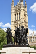 The Burghers Of Calais Statue In London Victoria Tower Garden - UK, By A. Rodin From 19c