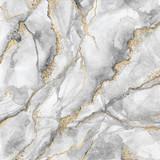 streszczenie tło, twórcza tekstura białego marmuru ze złotymi żyłami, artystyczne marmurkowanie farby, sztuczny modny kamień, marmurkowa powierzchnia - 271404175