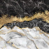 abstrakcyjne tło, kreatywne tekstury marmuru i złota folia, dekoracyjne marmurkowe, sztuczne modny kamień, marmurkowa powierzchnia - 271404185