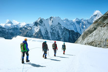 Climbers Reaches The Summit Of...