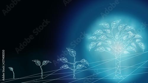 Obraz na plátně  Background of business transformation innovation to digital disruption financial