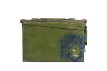 Caja Militar De Metal Verde So...