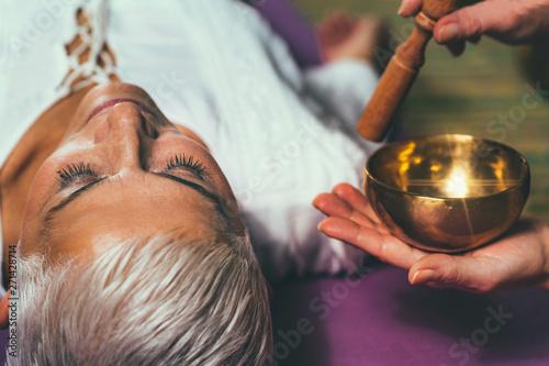 Sound meditation. Tibetan singing bowl - 271428714