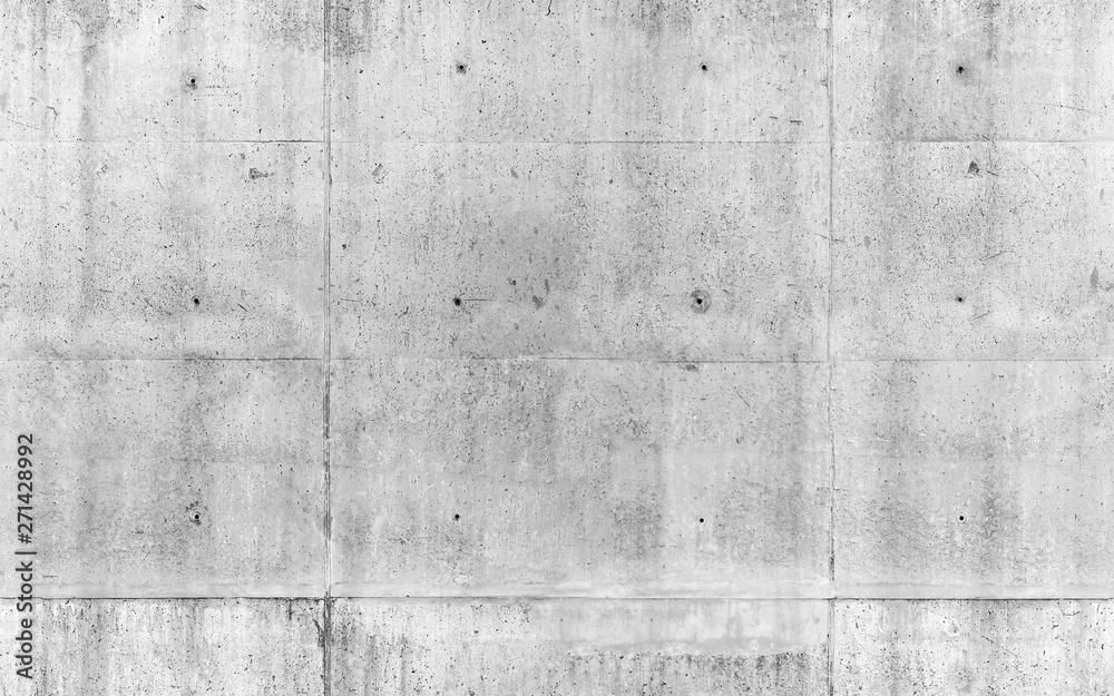 Fototapeta Seamless texture, gray concrete wall