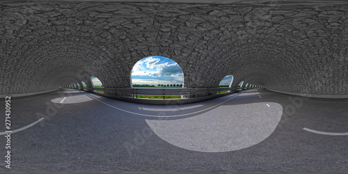 road tunnel 360° vr-render Canvas-taulu