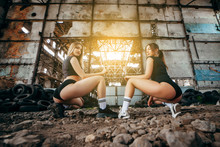 Two Beautiful Twerking Girls On The Street