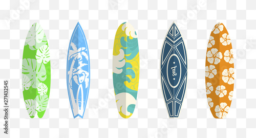 Photo  Set of surf boards