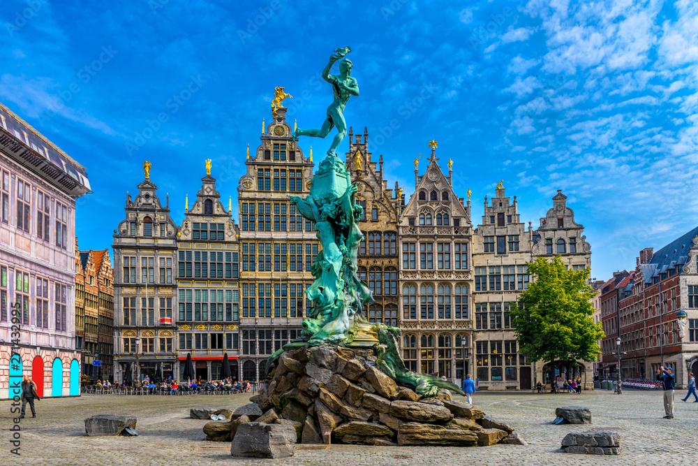 Photo  The Grote Markt (Great Market Square) of Antwerpen, Belgium