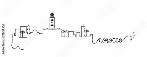 Morocco City Skyline Doodle Sign Fototapet