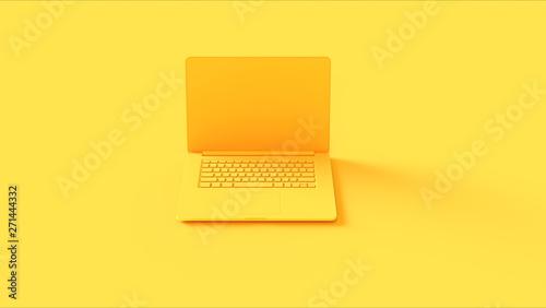 Yellow Laptop 3d illustration 3d render