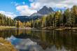 Beautiful alpine countryside. Scenic image of famous Sassolungo peak with overcast perfect blue sky. Wonderful Vall Gardena under sunlight. Majestic Dolomites Mountains. Amazing nature Landscape