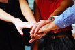 Close-up handshake for business teamwork concept in the offices.