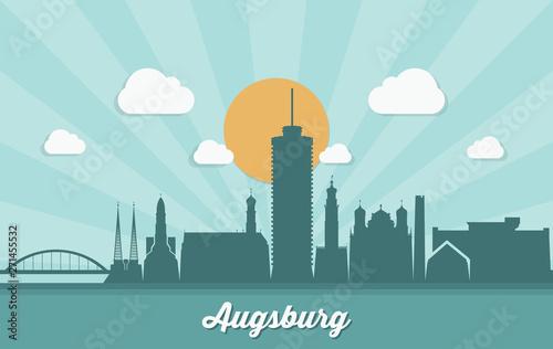 Photo Augsburg skyline - Germany