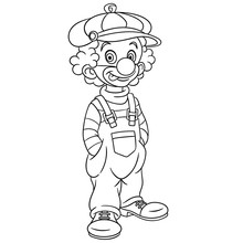 Coloring Page With Clown