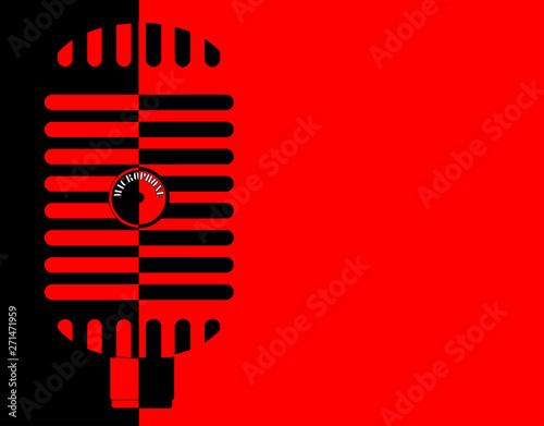 Red And Black Classic Microphone Background