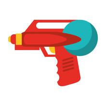 Toy Laser Gun Icon Cartoon
