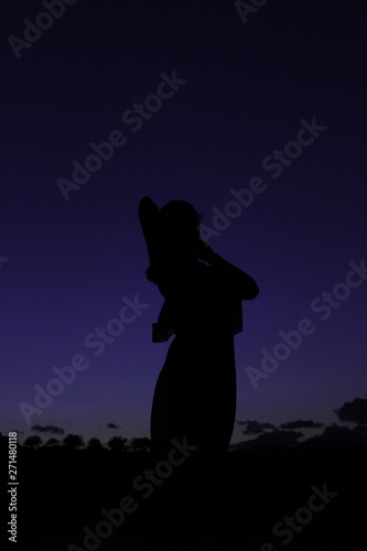 Poster Commemoratif person in silhouette