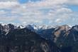 Bergpanorama in den deutschen Alpen