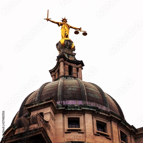 Poster Commemoratif the lady justice statue