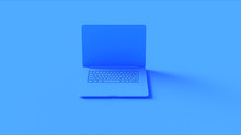 Blue Laptop 3d Illustration 3d Render