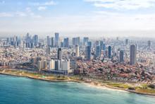 Tel Aviv Skyline Beach Aerial ...