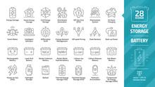 Energy Storage Outline Icon Se...