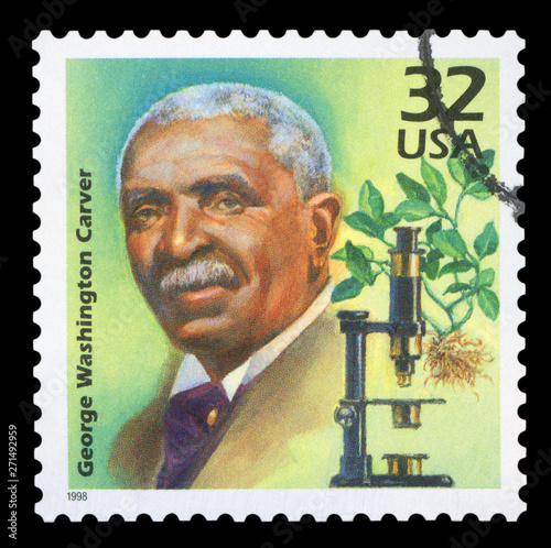 UNITED STATES OF AMERICA - CIRCA 1998: A stamp printed in USA shows George Washi Fototapeta