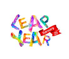 LEAP YEAR. February 29. Vector...