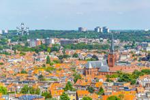 Aerial View Of Brussels From Koekelberg Basilica In Belgium