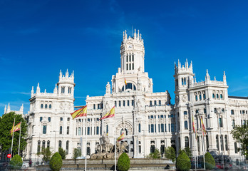 Cibeles fountain and Palace in Madrid
