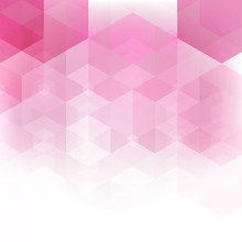 Design Geometric Shapes Of Pink Hexagons. Abstract Background