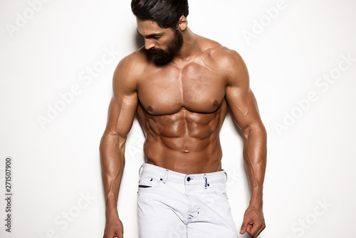Fotografía  Shirtless, Athletic, Confident, Fashion Handsome Man