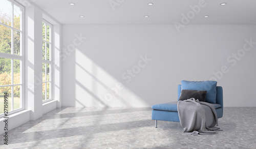 Fototapety, obrazy: large luxury modern bright interiors room illustration 3D rendering