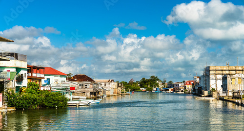 Haulover Creek in Belize City Canvas Print