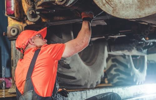 Tractor Under Maintenance