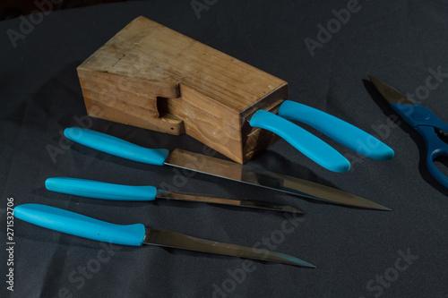 Photo Juego de cuchillos para preparar comida