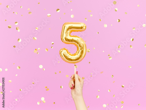Fotomural Five year birthday