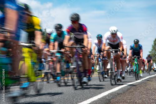Foto op Aluminium Road Cyclists in a Race