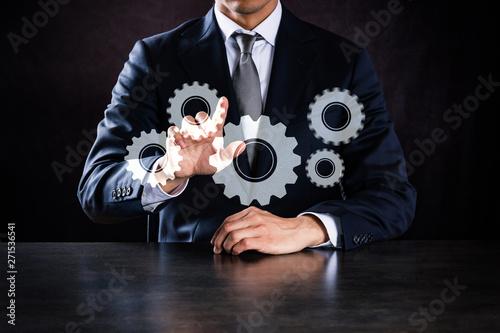 Fotografia ビジネスマン、歯車